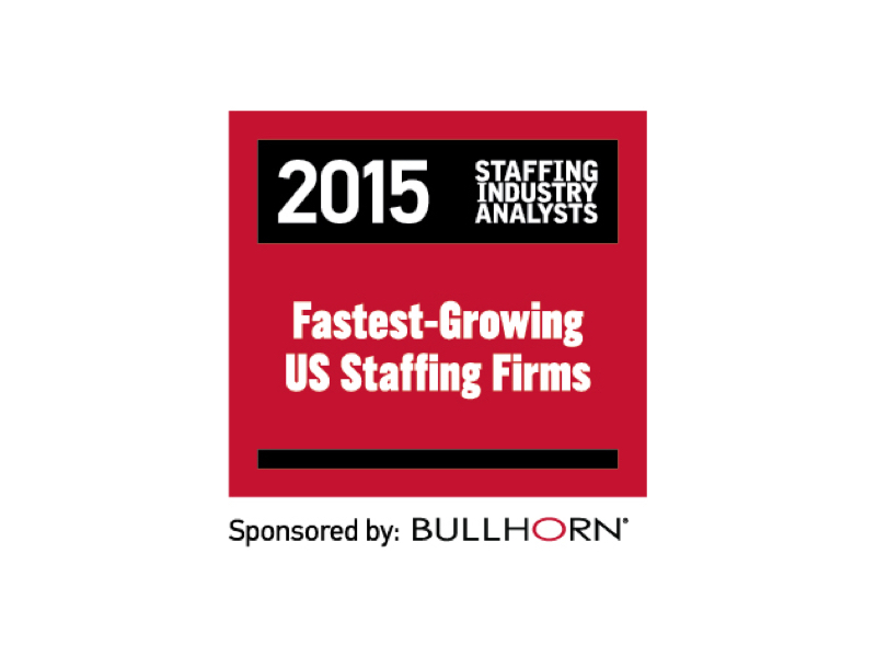 Voted Charlotte's Fastest Growing US Staffing Firms by Staffing Industry Analysts